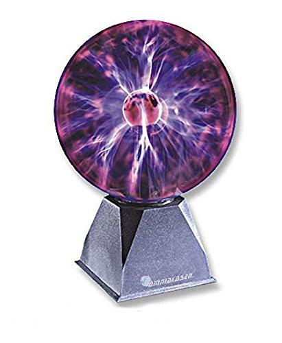 OmniaLaser OL-SP200- Lámpara de Plasma, Bola Decorativa con Efecto de Rayos y descargas eléctricas, micrófono Interno, 20 cm