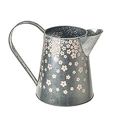 Idea Regalo - CB importazioni argento metallo brocca Ditsy fiori rosa floreale design 16cm