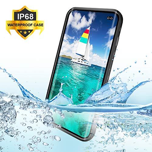 Hülle S10 Plus Wasserdicht,BDIG 360 Grad Rundum Schutz mit Eingebautem Displayschutz Outdoor TPU Transparent Bumper Stoßfest Handyhülle Schutzhülle Kompatibel mit Galaxy S10+ ( S10 Plus 6.4
