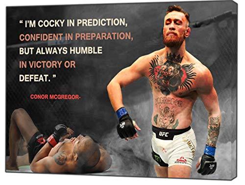 Conor McGregor Knockout-Druck gerahmt Leinwand Kunstdruck, 30 x 24 inch-18mm depth -
