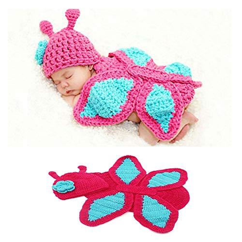 NROCF Schmetterling Neugeborenes Baby Fotografie Requisiten, Pink, Babykleidung 0-6 Monate Fotoausrüstung, Kinder Fotografie Kostüme (Neugeborenen Schmetterlings Kostüm)