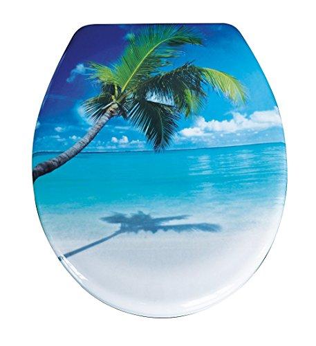 Duroplast,Toilettensitz Wc-Sitz mit Absenkautomatik und Schnellverschluss, Caribbean