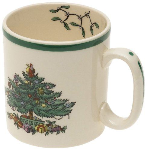 Spode Weihnachtsbaum Weihanchtsbaum, Tasse Spode Christmas Tree Mugs, Set of 4 4 Spode Christmas Tree
