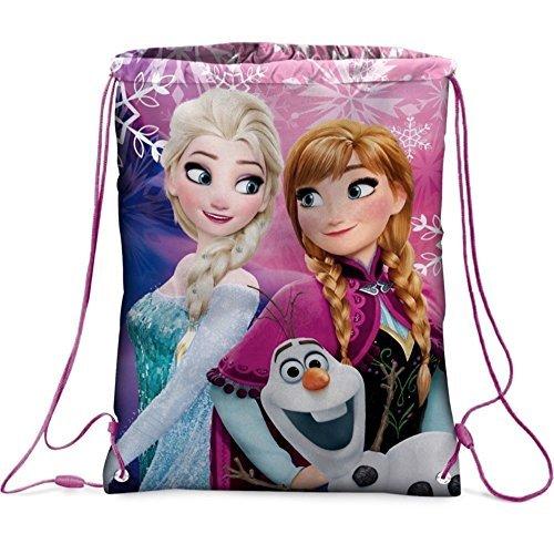 GUIZMAX Sac Souple La Reine des Neiges Disney Gym Piscine Tissu Frozen GUIZMAX