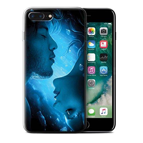 Officiel Elena Dudina Coque / Etui Gel TPU pour Apple iPhone 7 Plus / Pack 7pcs Design / Art Amour Collection Diamants congelés
