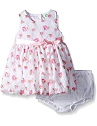 Little Me Baby Girls' White Floral Printed Dress Set