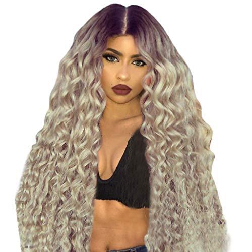 Perücke Damen Wig Hair Afro Blond Schwarz Curly Langhaar Lockige Synthetic Cosplay Locken Long Lang Anime Human
