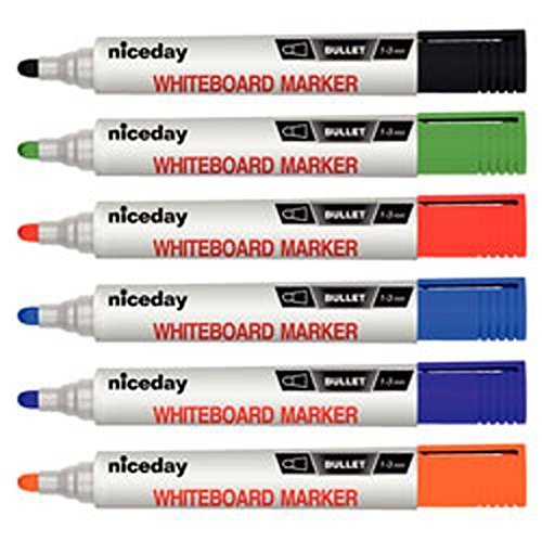 bullet-tip-whiteboard-markers-assorted-colours-pack-of-6