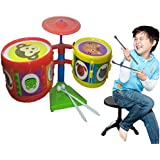Halo Nation High Quality Jazz Drum Set For Kids - 8 Pcs Set (Clear Sound + Full Fiber Body)