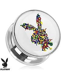 Playboy Adulto conejo Logo impresión en color tornillo ajuste enchufe acero