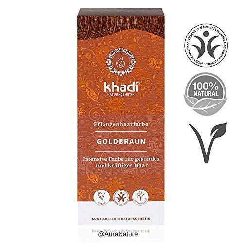 Khadi Colorant pour plantes 100 g de cheveux végétaliens en Inde I cosmétique naturel 100% végétale