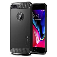 Spigen Rugged Armor designed for iPhone 8 PLUS case (2017) / iPhone 7 PLUS (2016) cover / case - Black