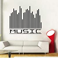 Homemay PVC Wall Stickers English music equalizer living room bedroom home decoration removable classroomWallpaper50.8 cm x 61 cm-White