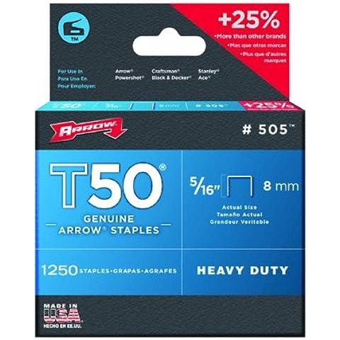 Arrow T50 Staples Box 1250 8mm 5/16in