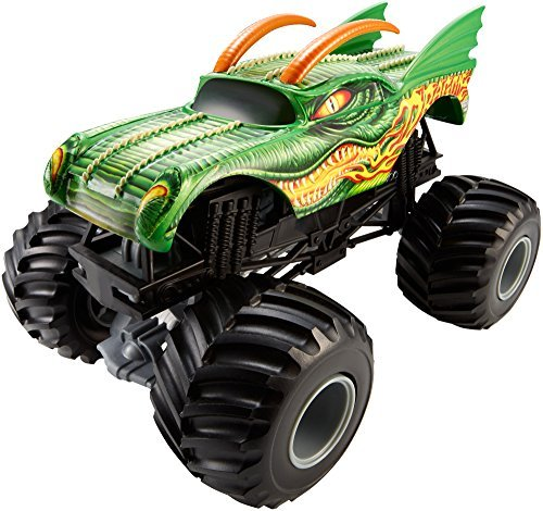 Hot Wheels Monster Jam 1:24 Scale Dragon Vehicle, Model: CGD65, Toys & Gaems