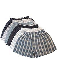 12 x Big King Size Woven Cotton Blend Loose Boxer Shorts with Elastic Waist Band Underwear Size:4XL (XXXXL)