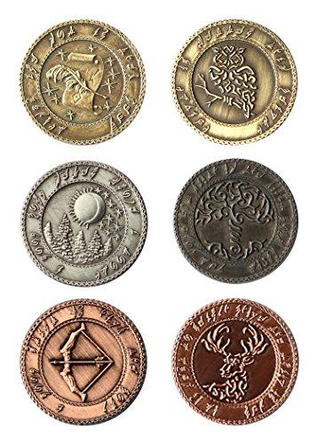 Es-kupfer-bronze-finish (LARP-Münzen Elfen - Währung Spielgeld von Battle-Merchant Ausführung ohne Beutel)
