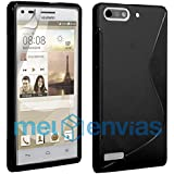 Funda carcasa para ORANGE GOVA / HUAWEI ASCEND G6 GEL TPU Diseño S-Line Color NEGRO