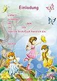 12 Einladungskarten und Umschläge * FEEN & ELFEN * in DIN A5 für den Kindergeburtstag // Kinder Geburtstag Mädchen
