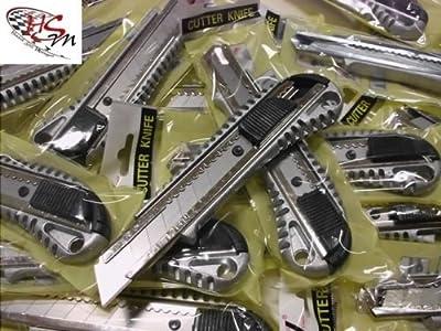 24 Stück Profi Aluminium Cutter 18mm Alu Cuttermesser Teppichmesser Messer