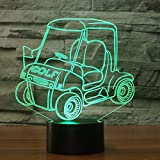 Lixiaoyuzz 3D Veilleuses 7 Couleurs Chariot De Golf Moulding Lampe De Table Led Visual Night Light Atmosphère De Chevet Décor Toucher Commutateur De Voiture Luminaire Cadeaux