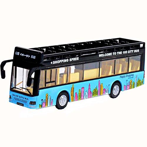 Blue Toy Sightseeing Bus avec des effets de lumière et de son Enfants Toy Car
