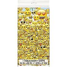 Mantel de plástico, modelo emoji, 2,15pies x 1,35 m