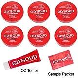 Glysolid Display European Packaging - 6 - 3.38 oz. Jars