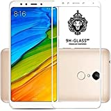 Cedo Xpro Full Coverage 5D Edge To Edge Tempered Glass Screen Protector For Xiaomi Redmi Note 5 (Full Glass White)