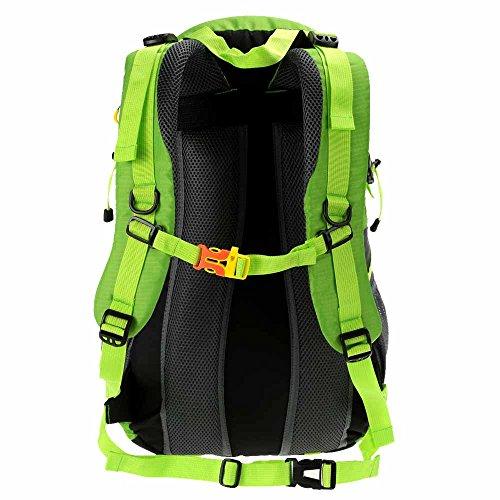 Docooler 40L Traspirante Spalla Zaino Viaggio Trekking Alpinismo Zaino Unisex Zainetto All'Aperto verde