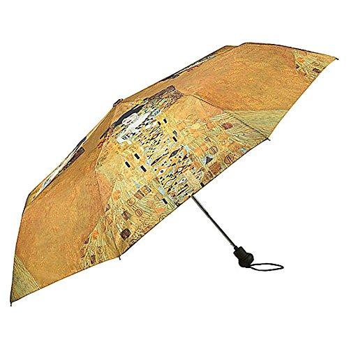 VON LILIENFELD Regenschirm Taschenschirm Automatik Gold Damen Kunst Motiv Gustav Klimt: Adele (Regenschirm Gustav Klimt)