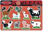 Melissa & Doug Pussel med lantbruksdjur , Pussel , Träleksak , 2+ , Present till pojke eller fl