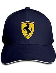 yhsuk Ferrari Sandwich Peaked Hat/Cap Marina