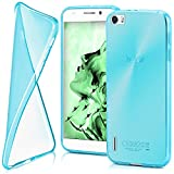 moex Huawei Honor 6 | Hülle Silikon Transparent Türkis Clear Back-Cover TPU Schutzhülle Dünn Handyhülle für Honor 6 Case Ultra-Slim Silikonhülle Rückseite