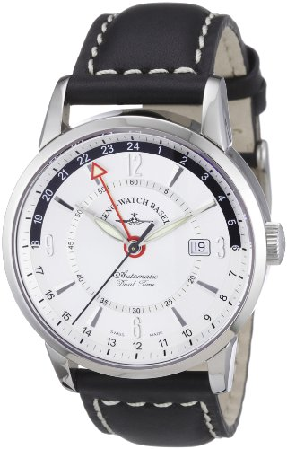 Zeno Watch Basel Men's Automatic Watch Magellano 6069GMT-g3 with Leather Strap