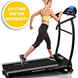 X-LITE STRIDE TREADMILL - 2016 MODEL - SUPER COMPACT - SUPER LITE - 750W Powerful Motor - 12 Pre-set Interval Training Programs - 1 Manual Program - 10% Fixed Incline - 5 Quick Speed Keys - 10KM/H - Bottle Holders - Motorised Folding Fitness Running Machine