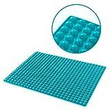 Silikon-Backmatte mit Auffang-Rand und runden Noppen | Dauer-Backunterlage für Backblech | Hitzebeständig -40°C bis 240°C | Größe 40 x 29 x 0.7 cm | Lebensmittelecht (BPA-frei) | Antihaftbeschichtet