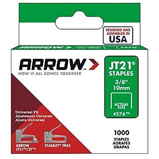 Arrow Fastener 276 Genuine JT21/T27 3/8-Inch Staples, 1, by Arrow Fastener