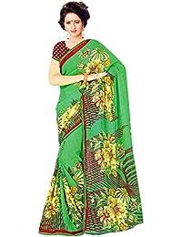 The Wardrobe Women's Georgette Saree(Wardrobe007_Multi-Coloured_Free Size)