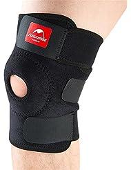 Naturehike De alta calidad de la moda de fútbol de deportes de baloncesto de fútbol de voleibol negro duradera rodilla Shin Protector guardia almohadillas Kneepad