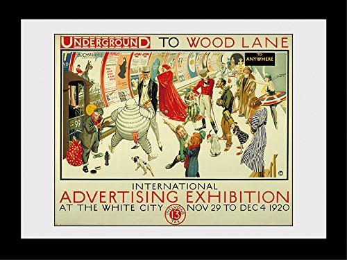 GB Eye Ltd Transport for London, Expo de publicité, encadrée, 60 x 80 cm, Bois, différents, 64 x 84 x 3 cm