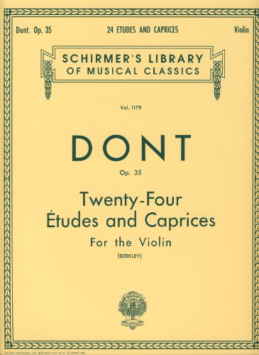 DONT - Estudios y Caprichos Op.35 para Violin (Berkley)