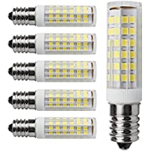 Kakanuo 6pcs E14 5W LED Ampoule 430lm 220V Blanc Froid 6000K Remplacement A L'halogène Non-dimmable 75 2835smd