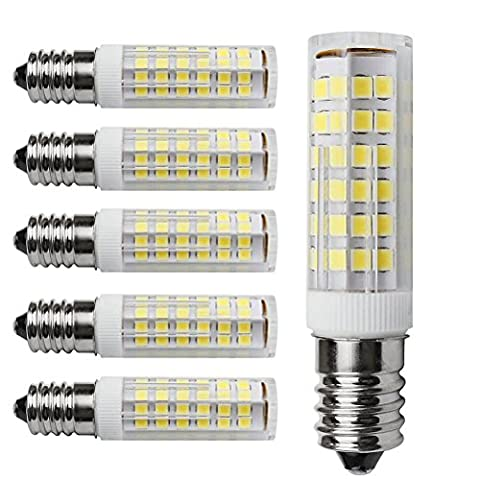 Kakanuo 6pcs E14 5W LED Ampoule 430lm 220V Blanc Froid 6000K Hotte Remplacement A L'halogène Non-dimmable 75 2835smd