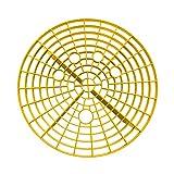 Tookie Autowasch-Einsatz für Putzeimer, Abstreifgitter, Filter für Wassereimer, gegen Kratzer, Schmutz, 23,5 / 26 cm (Schwarz, Rot, Gelb)