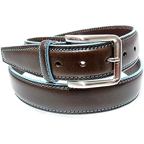 Cintura uomo Made in Italy- Cintura vera pelle 055 40M - Marrone