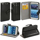N16- Schwarz Handytasche für Samsung Galaxy S3 i9300 i9305 Schutzhülle Hülle Schutzschale Schale Flip Bumper Tasche Etui Case Standfunktion