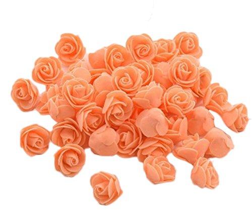 Demarkt Schaum Rose Blume Kopf Rosenblüten Rosenköpfe Kunstblumen Künstliche Rose Blumen Dekoration für DIY Handwerk Hochzeit Dekoration (50pcs)
