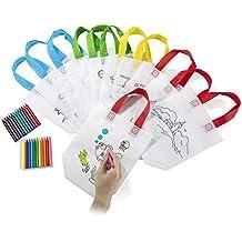Comius Lote 12 Bolsas para Colorear,DIY Bolsas Infantiles para Colorear,12 Diferentes Diseño