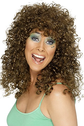 Long, Brown Perm Wig for 80s Dress-Up